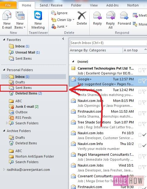 how-to-recall-email-outlook 2010-step2