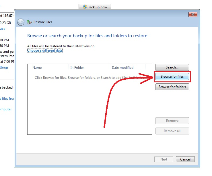 how to recover deleted files in windows 7 step5