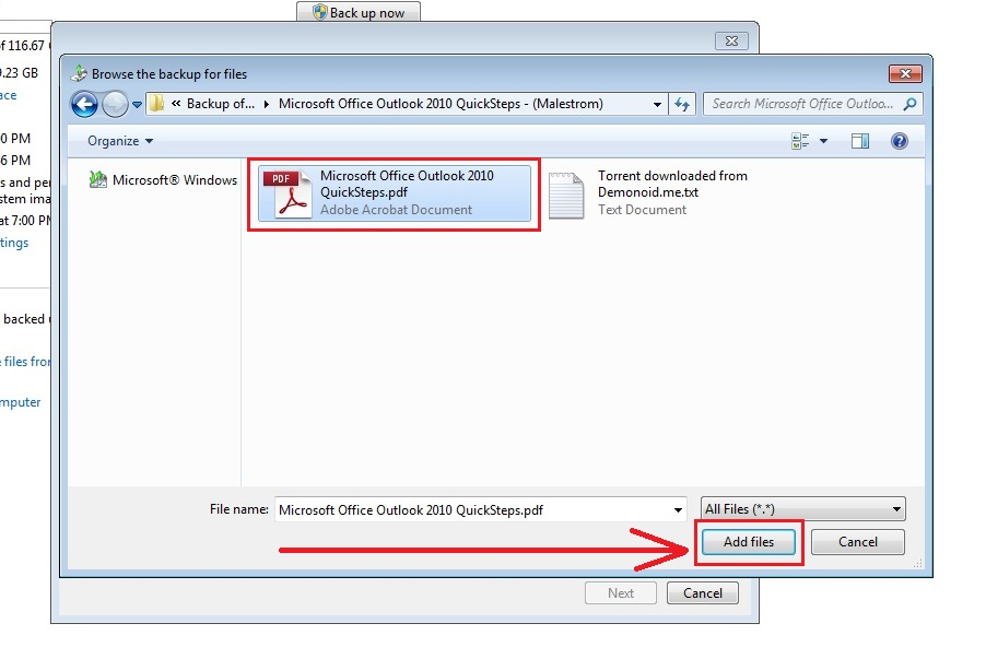 how to recover deleted files in windows 7 step6