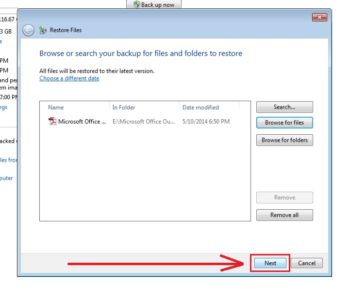 how to recover deleted files in windows 7 step7