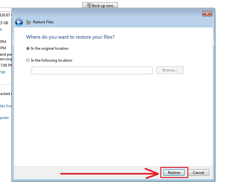 how to recover deleted files in windows 7 step8