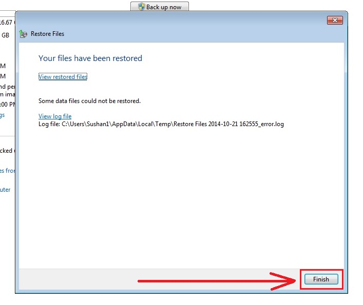 how to recover deleted files in windows 7 step9