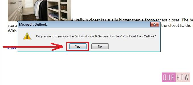 how-to-remove-RSS Feeds-outlook 2010-step4