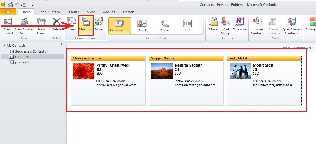 how-to-schedule-meeting-outlook 2010-step2