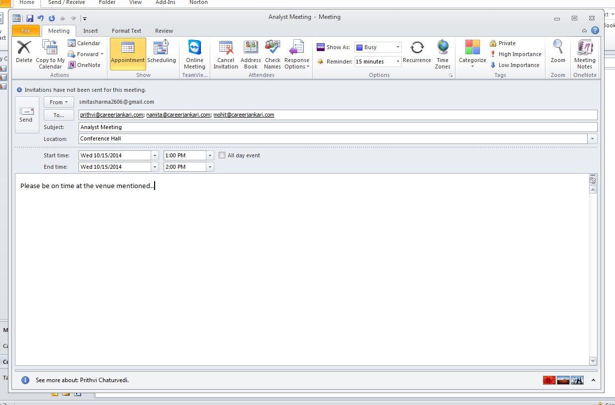 how-to-schedule-meeting-outlook 2010-step3