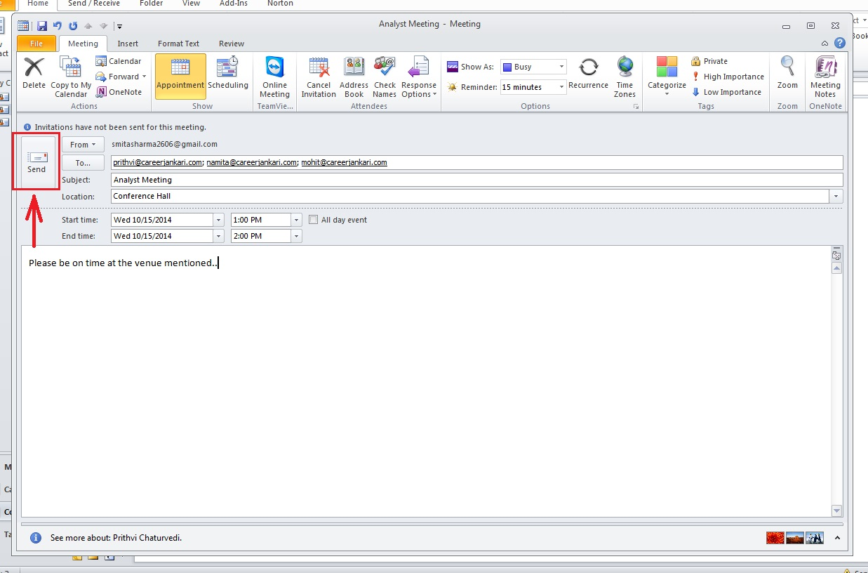 how-to-schedule-meeting-outlook 2010-step4