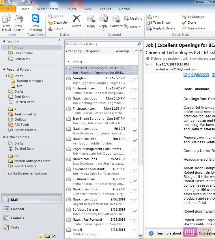 how-to-take-backup-outlook 2010-step1