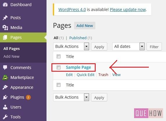 How to disable comments on specific page on WordPress-step2