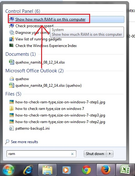 how-to-check-ram-type,size-on-windows-7-step2