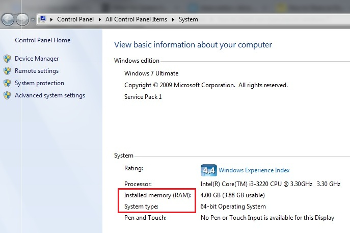 how-to-check-ram-type,size-on-windows-7-step3