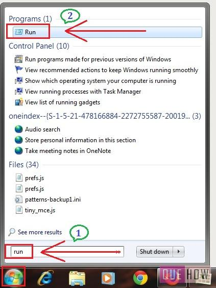 how to disable java update notification in windows 7-step1