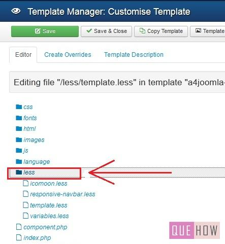 how to edit a template in joomla 3.x-step8