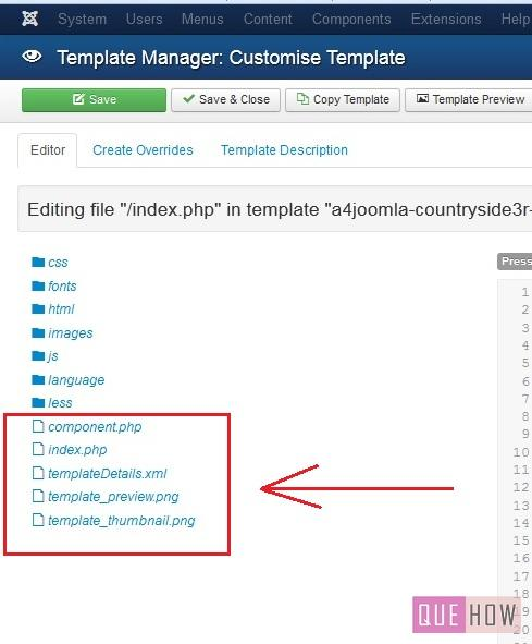 How To Edit A Template In Joomla 3x 10 Steps With Pictures Quehow