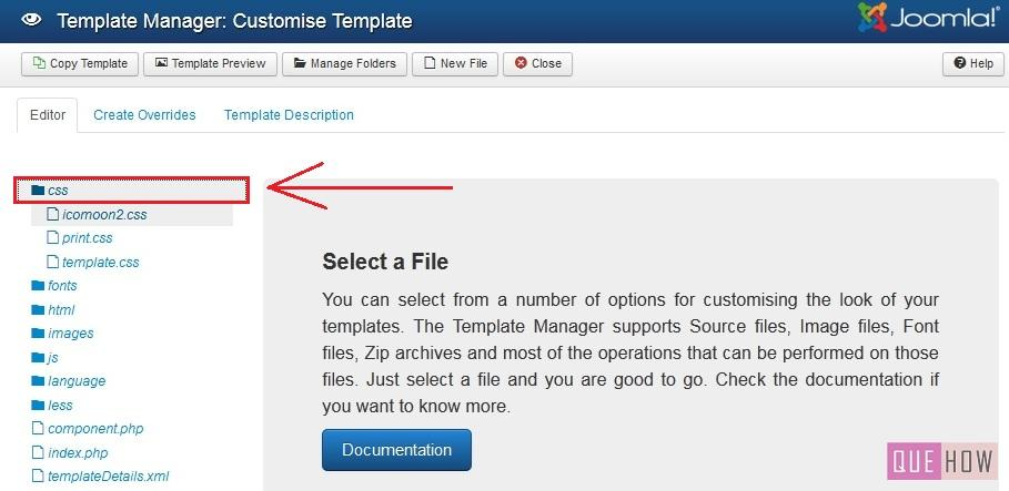 how to edit template css in joomla-step3