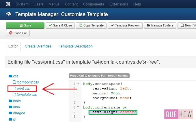 how to edit template css in joomla-step4