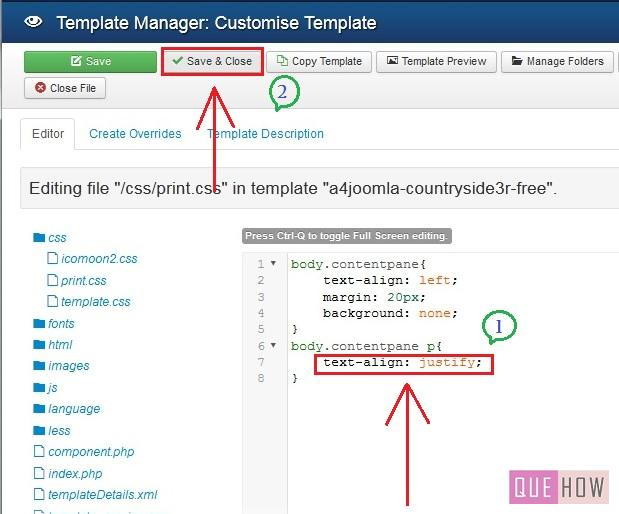 how to edit template css in joomla-step5