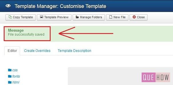 how to edit template css in joomla-step6