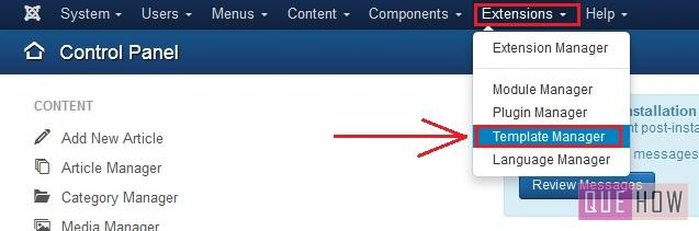 how to edit the copyright footer in joomla-step1