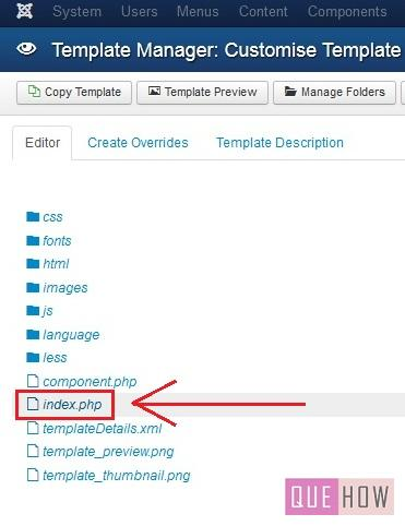 how to edit the copyright footer in joomla-step3