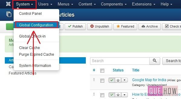 how to embed google map in joomla website-step1
