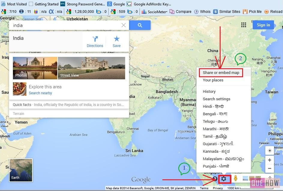 how to embed google map in joomla website-step4