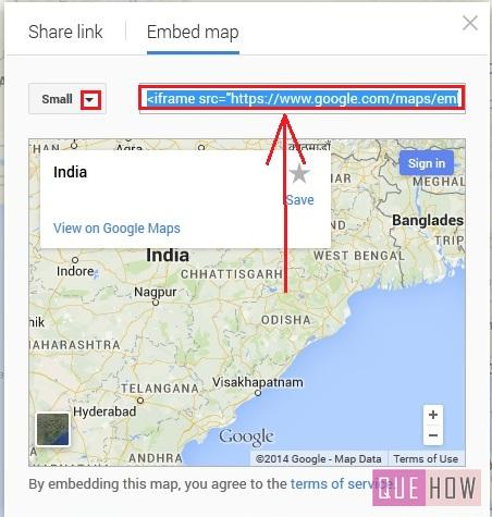 how to embed google map in joomla website-step5