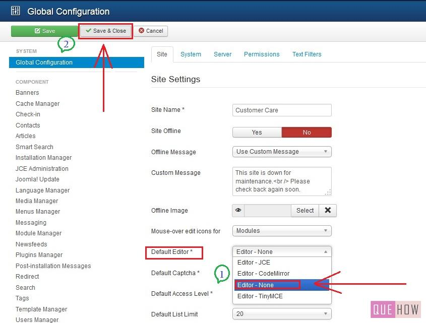 how to embed youtube video in joomla-step2