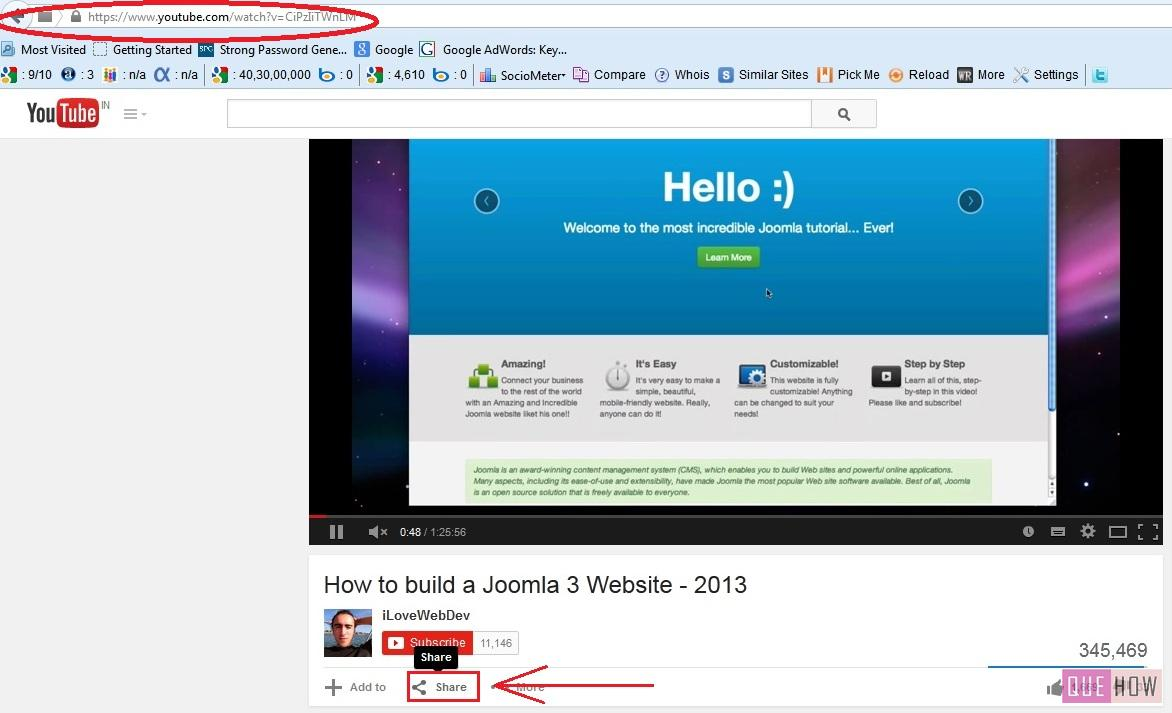 how to embed youtube video in joomla-step3
