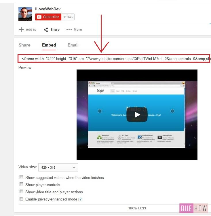how to embed youtube video in joomla-step5