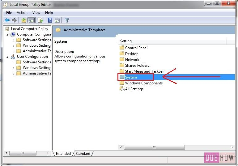 how to enable disable regedit in windows 7-step3