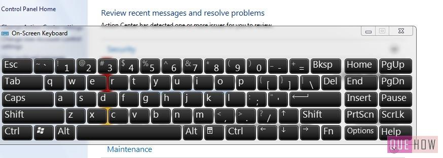 how to enable-disable virtual keyboard in windows 7-step2