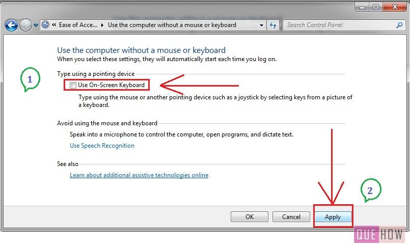how to enable-disable virtual keyboard in windows 7-step4