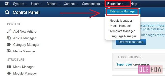 how to install a new template in joomla 3.x-step1