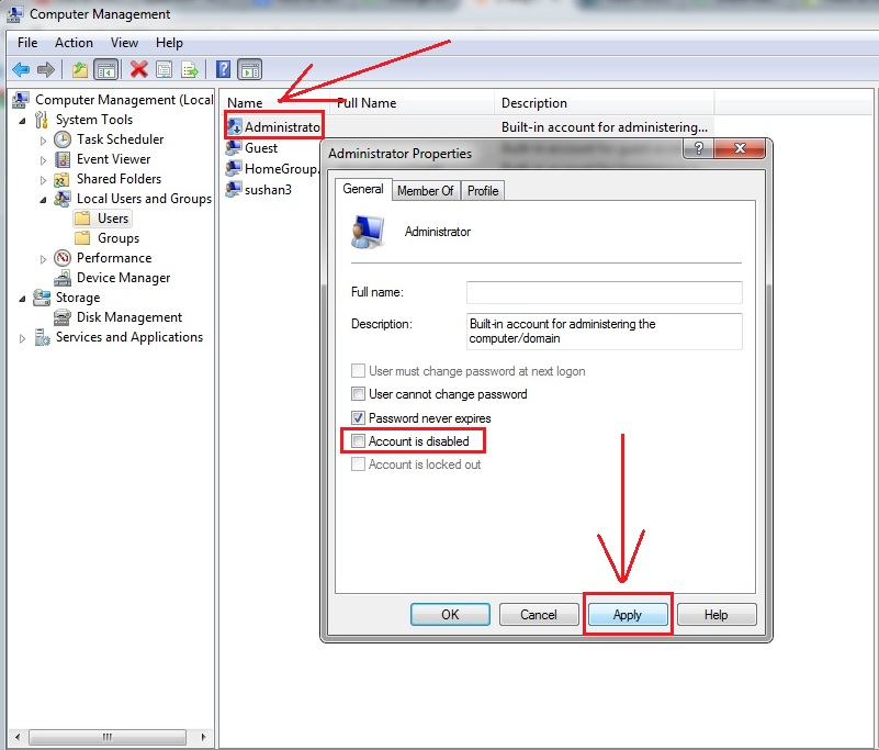 how to get to administrator in windows 7