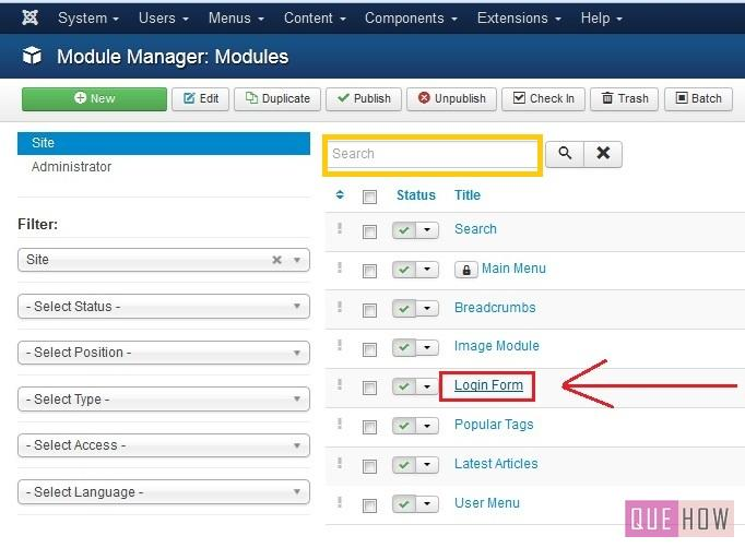 how to position a module in joomla-step2