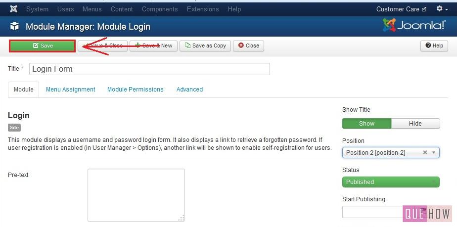how to position a module in joomla-step4