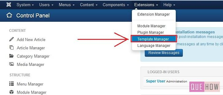 how to view module positions in joomla 3.x-step1