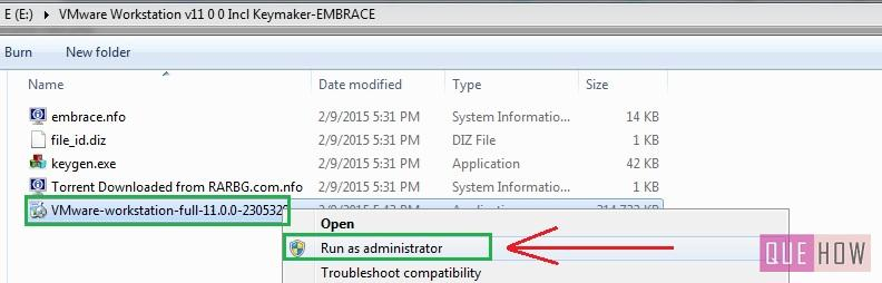 How to install Vmware Workstation in Windows7-step3