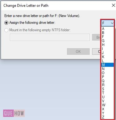 Change a Drive Letter in Windows 10-8