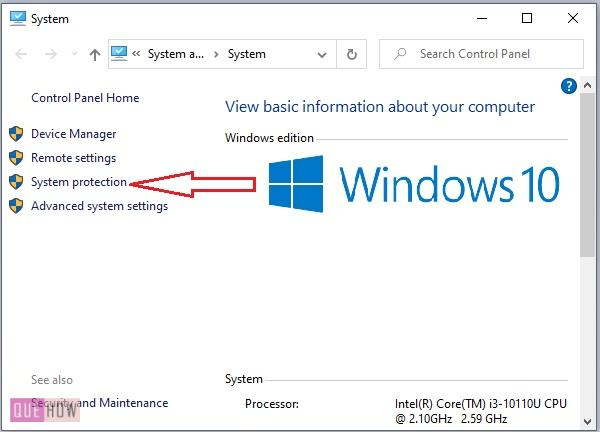 Create a System Restore Point in Windows 10-2