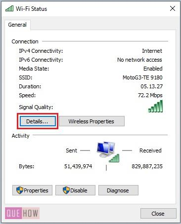 find MAC address of a computer system in Windows 10-11