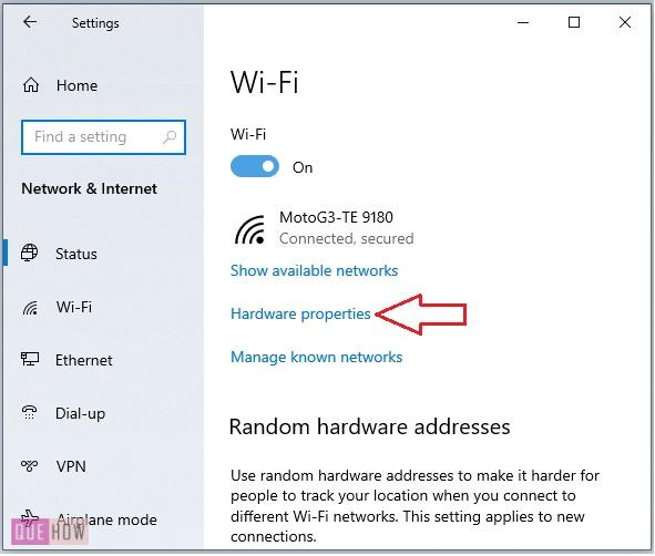 find MAC address of a computer system in Windows 10-4