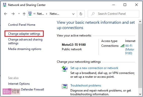 find MAC address of a computer system in Windows 10-9