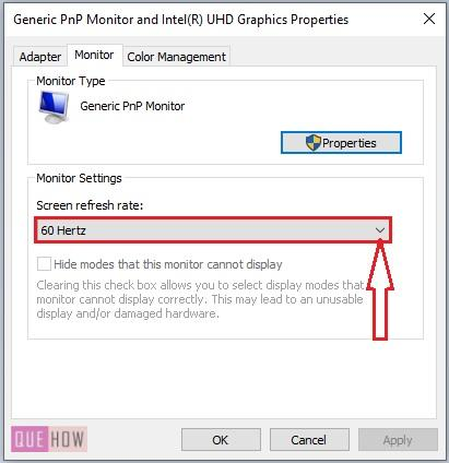 Change Monitor Refresh Rate-5