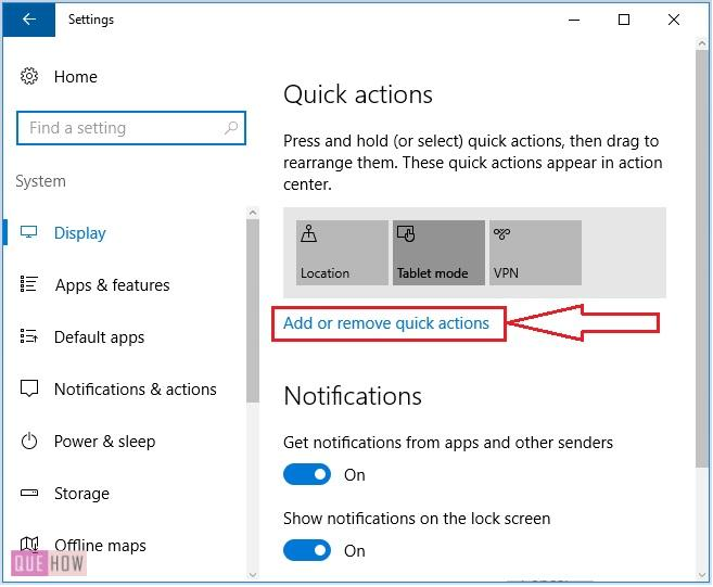 Configure-action-center-tools-in-windows-10-4