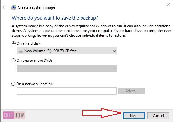 Create System Image Backup in Windows 10-4