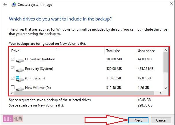 Create System Image Backup in Windows 10-6
