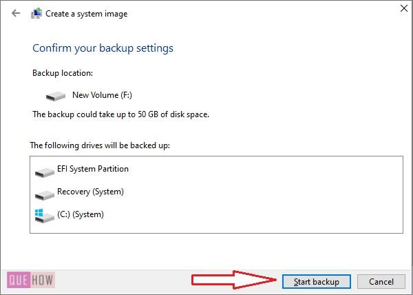 Create System Image Backup in Windows 10-7