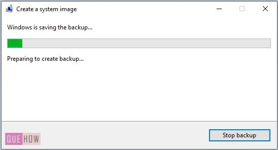 Create System Image Backup in Windows 10-8