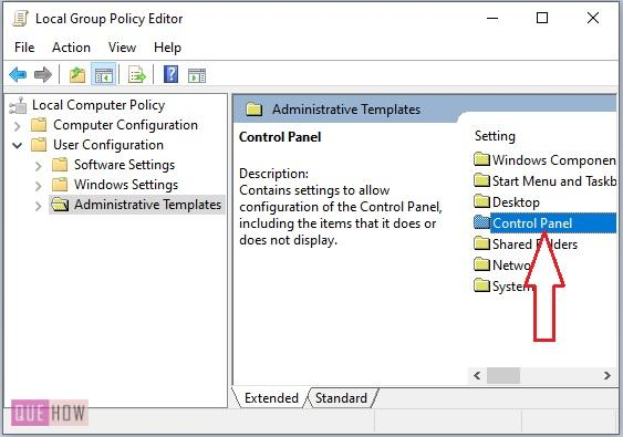 Disable Control Panel in Windows 10-4